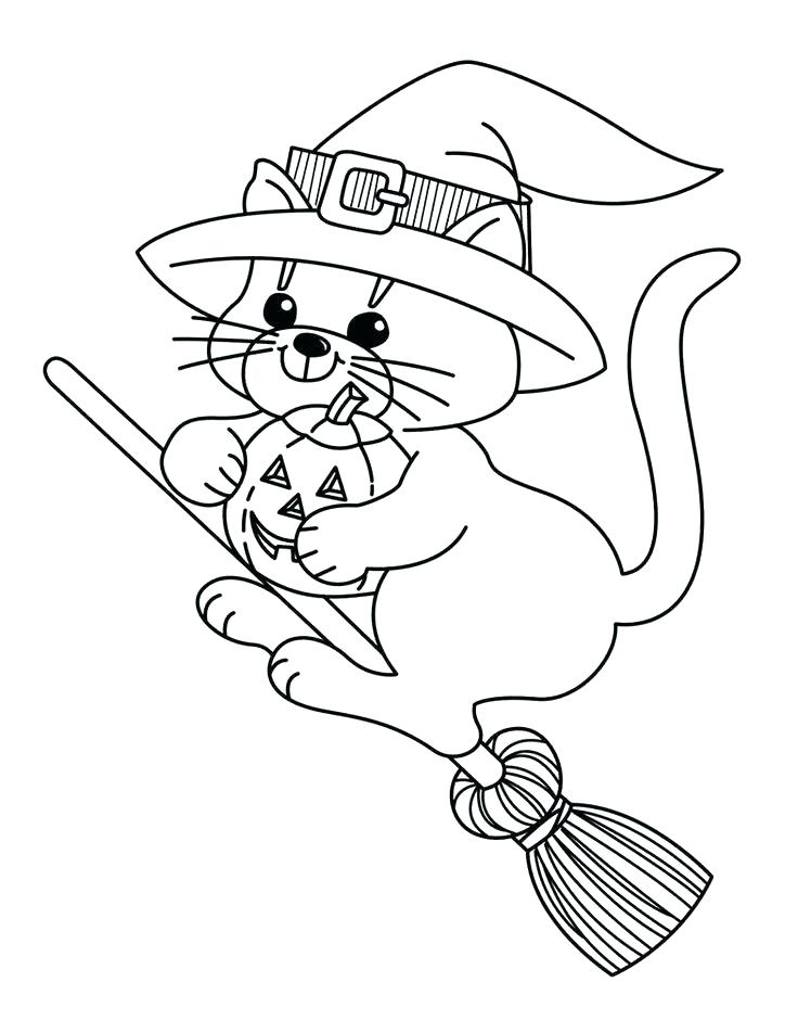 736x952 Free Printable Witch Coloring Page For Kids Scary Halloween