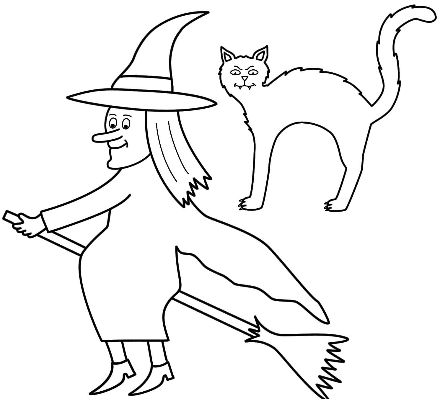 1490x1352 Halloween Flying Witch Coloring Pages