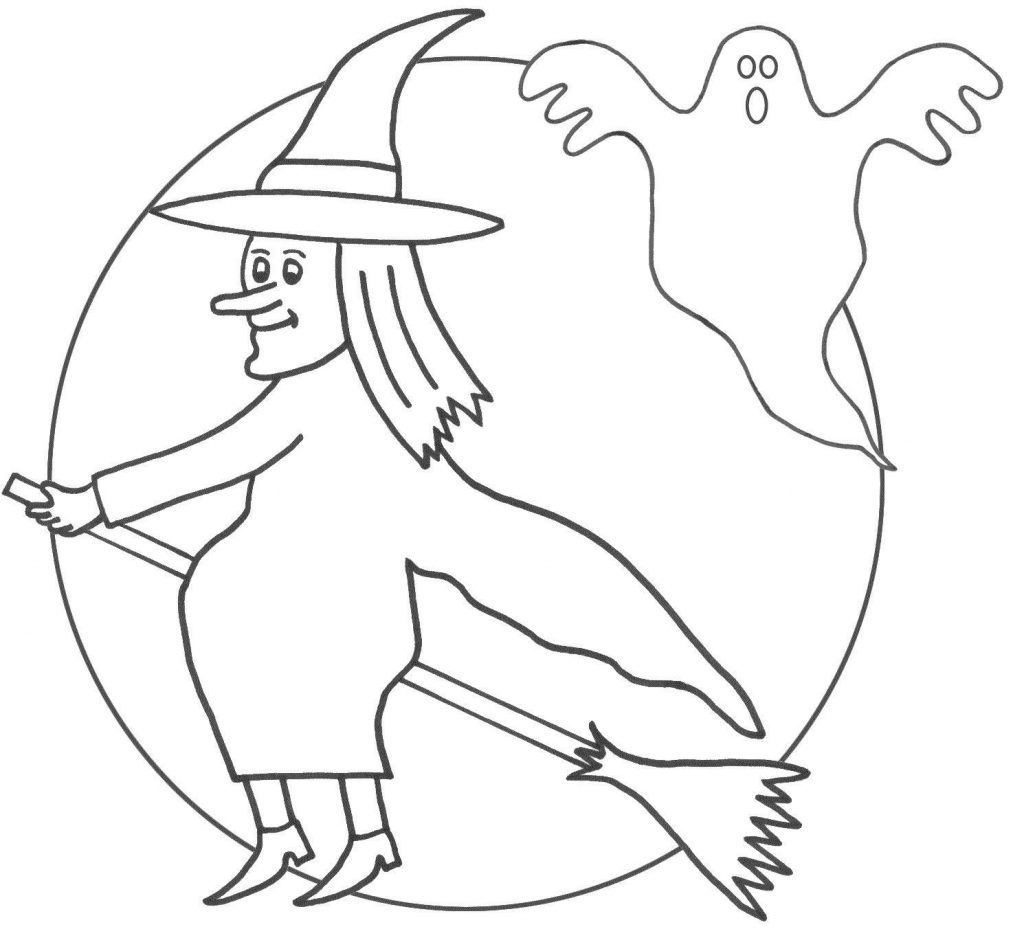 1024x929 Literarywondrous Witch On Broom Coloring Pages Vector Of Cartoon