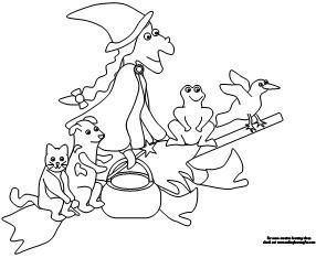 286x234 Making Learning Fun Room On The Broom Coloring Pages