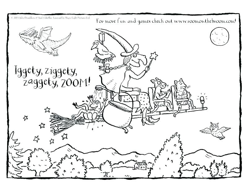 800x617 Trick Or Treat Coloring Page Room On The Broom Coloring Pages