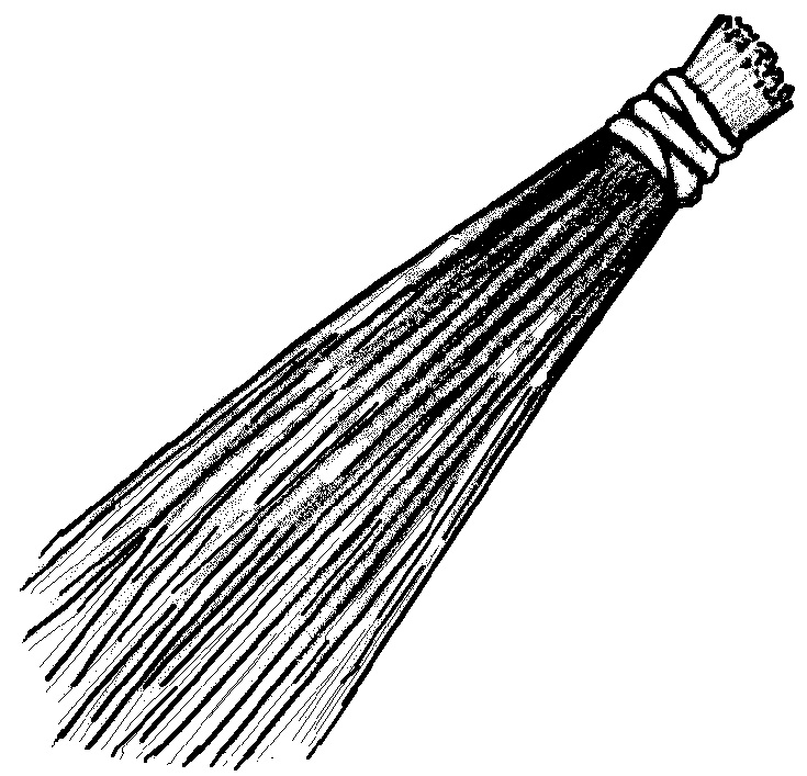 735x707 Broom Coloring Pages