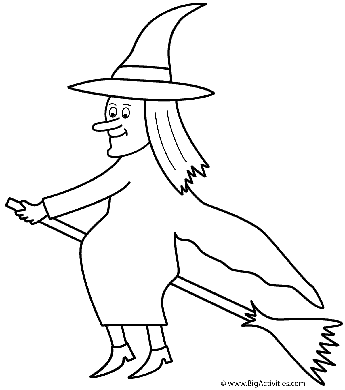 1199x1352 Witch On Broom