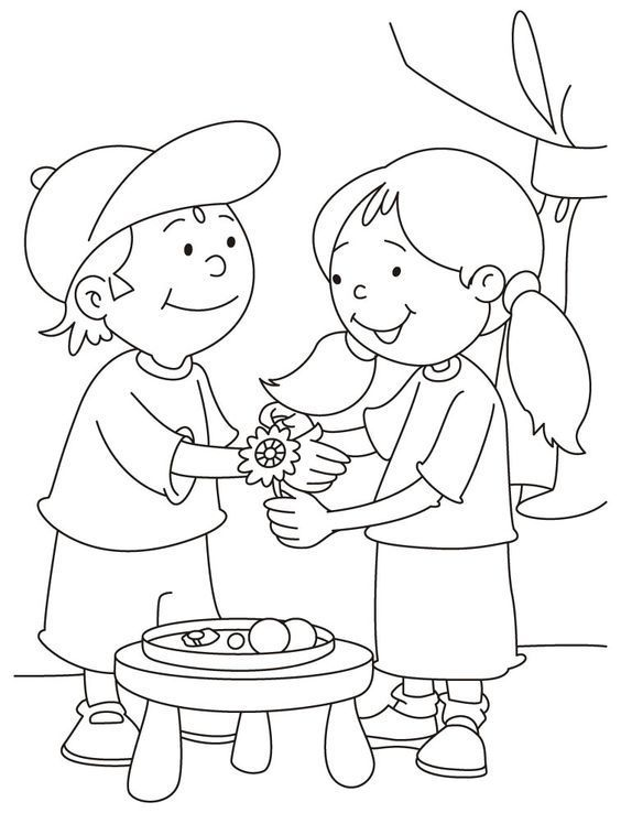 Brother And Sister Coloring Pages