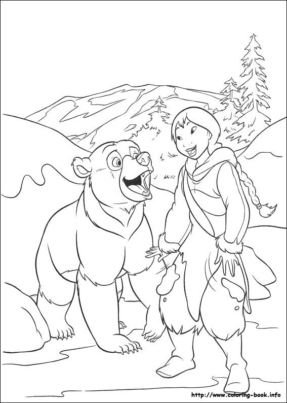 567x794 Brother Bear Coloring Picture Coloring Pages
