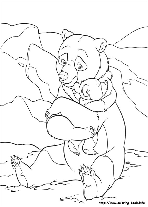 567x794 Brother Bear Coloring Picture