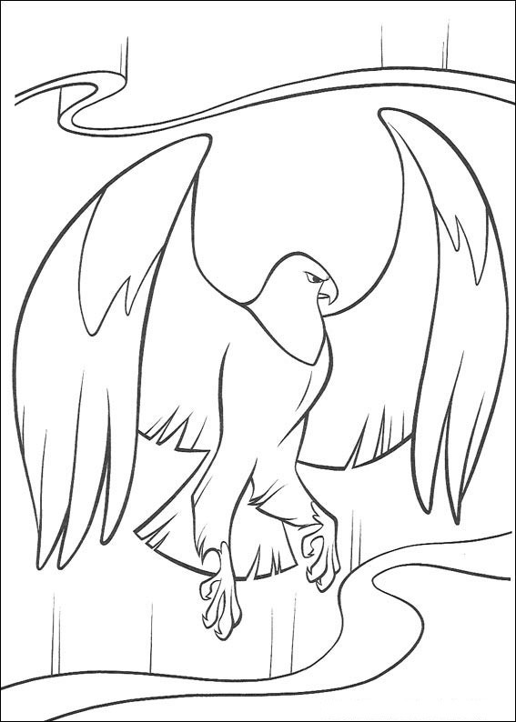 567x794 Brother Bear Bird Coloring Page