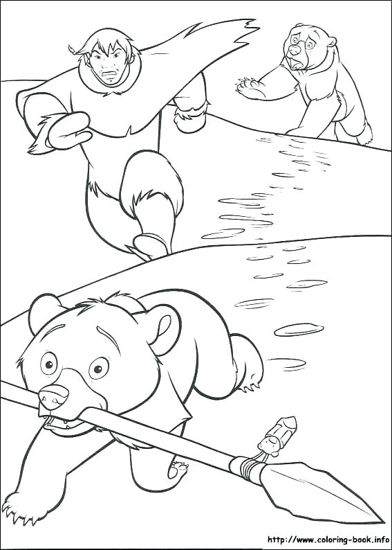 567x794 Brother Bear Coloring Pages
