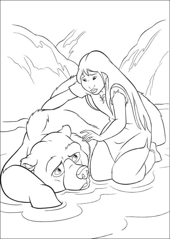567x794 Happy Feet Coloring Pages Brother Bear Coloring Page