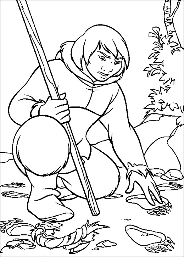 600x840 Brother Bear Kenai Found Traces Brother Bear Coloring Pages