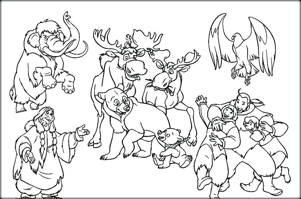 1024x677 Brother Bear Coloring Pages Brother Bear Brother Bear Coloring
