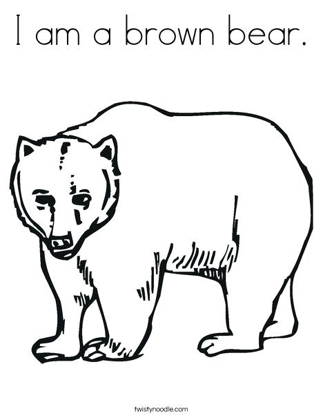 468x605 Brown Bear Coloring Pages Brown Bear Coloring Pages Brown Bear