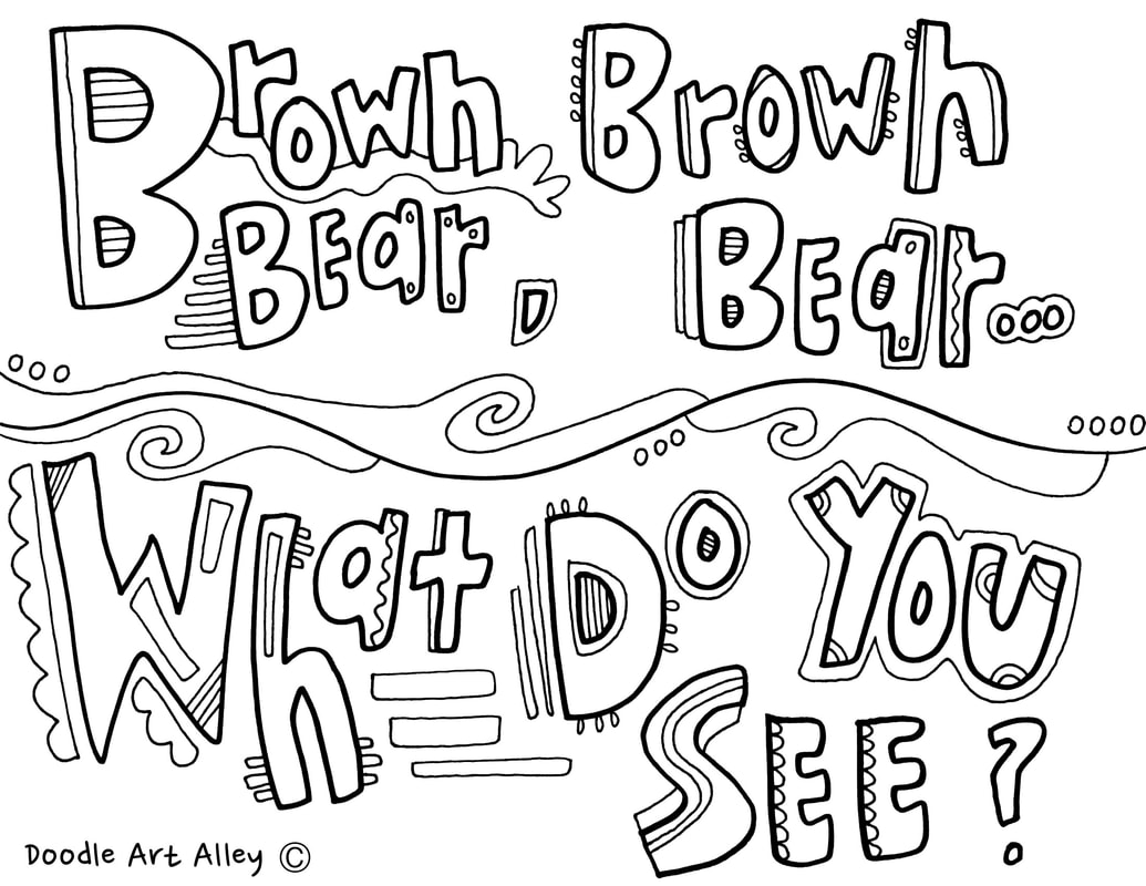 1035x800 Brown Bear Coloring Pages Call Back Classroom Doodles