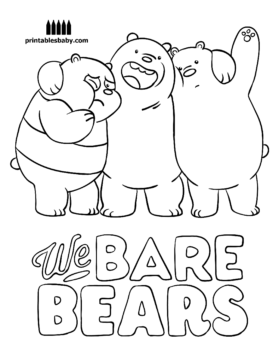 927x1200 Awesome We Bare Bears Printables Baby Free Cartoon Coloring Pages