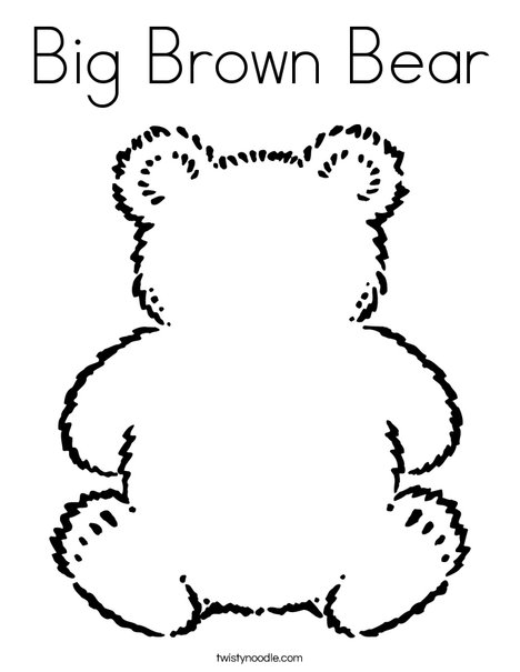 468x605 Big Brown Bear Coloring Page
