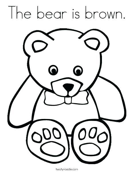 468x605 Brown Bear Brown Bear Coloring Page Eric Carle Brown Bear Brown
