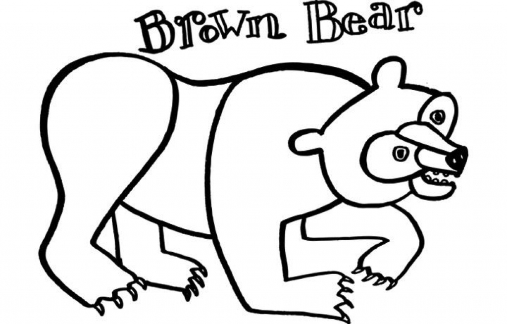 1024x654 Brown Bear Brown Bear Coloring Pages Printable Brown Bear Book