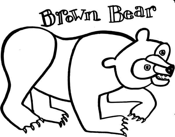 600x470 Brown Bear Coloring Pages Brown Bear Brown Bear What Do You See