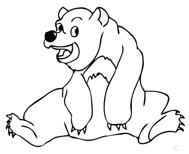 618x504 Brown Bear Coloring Page Brown Bear Coloring Pages Bears Free