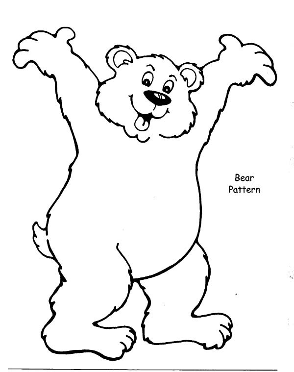 600x759 Brown Bear Look So Happy Coloring Pages Best Place To Color
