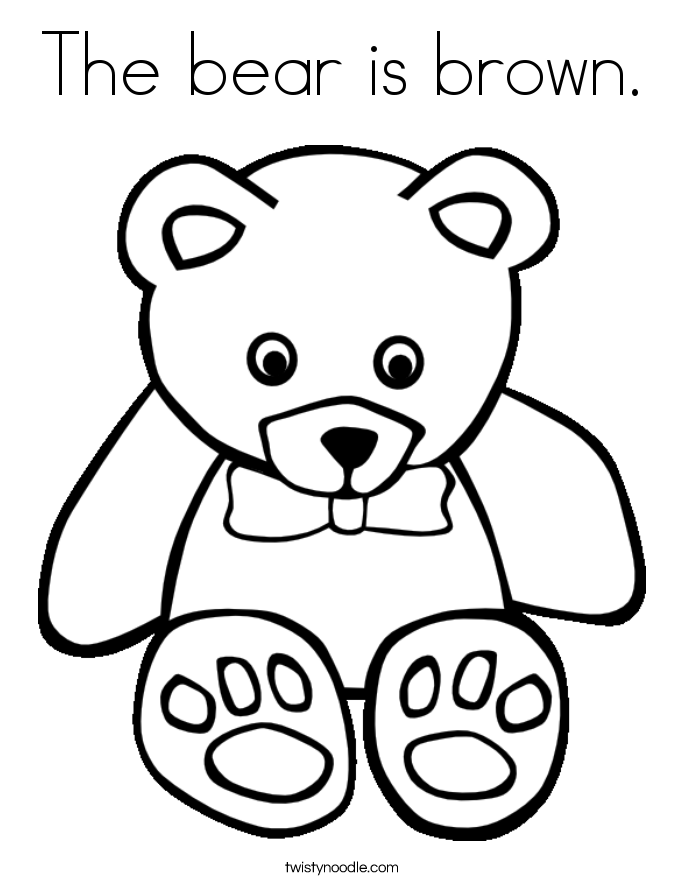 685x886 The Bear Is Brown Coloring Page