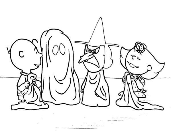 600x463 Charlie Brown Halloween Coloring Pages Charlie Brown Halloween