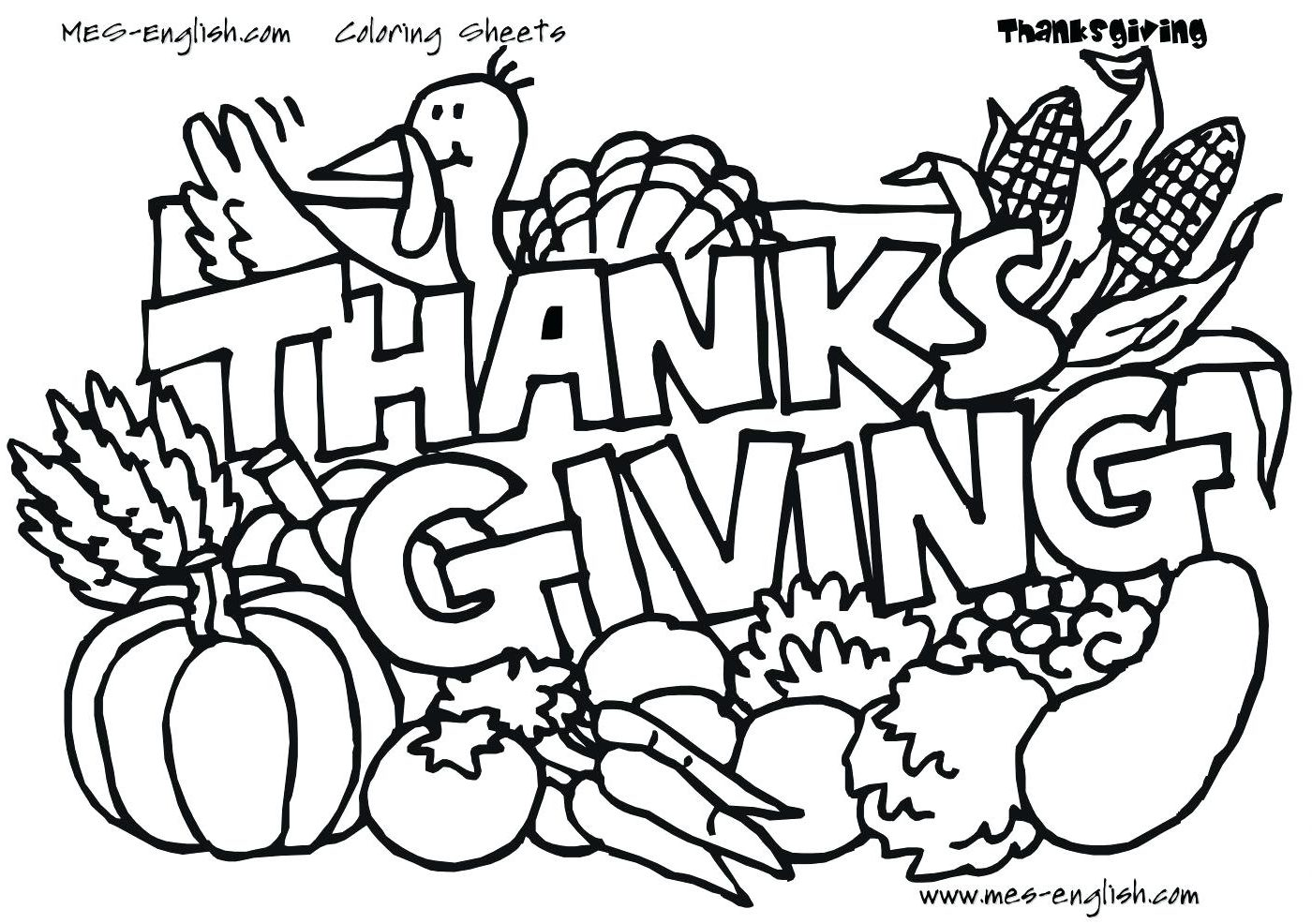 1400x986 Thanksgiving Coloring Pages Activities For Free Printable Cute