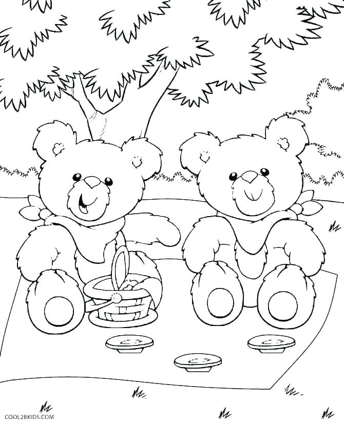 670x822 Brown Bear Printables Preschool Teddy Coloring Pages Printable