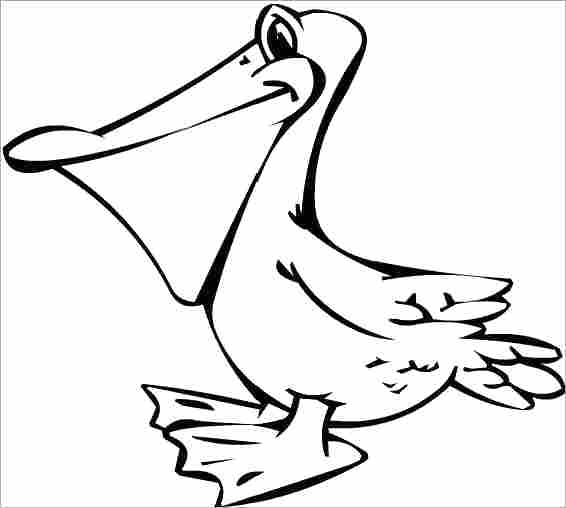 566x508 Pelican Animal Coloring Pages Coloring Page Coloring Ideas