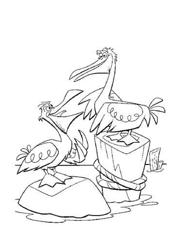 371x480 Pelicans Coloring Page