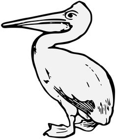236x281 Pelican Coloring Page Daycare Birds Bird, Mosaics