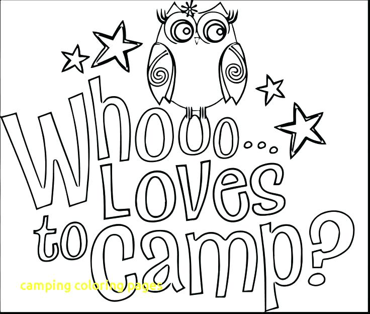 736x624 Camping Coloring Pages Pdf Camping Coloring Pages With Brownie