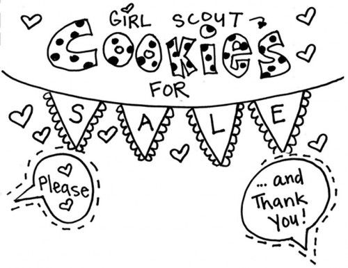 500x386 Coloring Page Girl Scout Cookie Coloring Pages