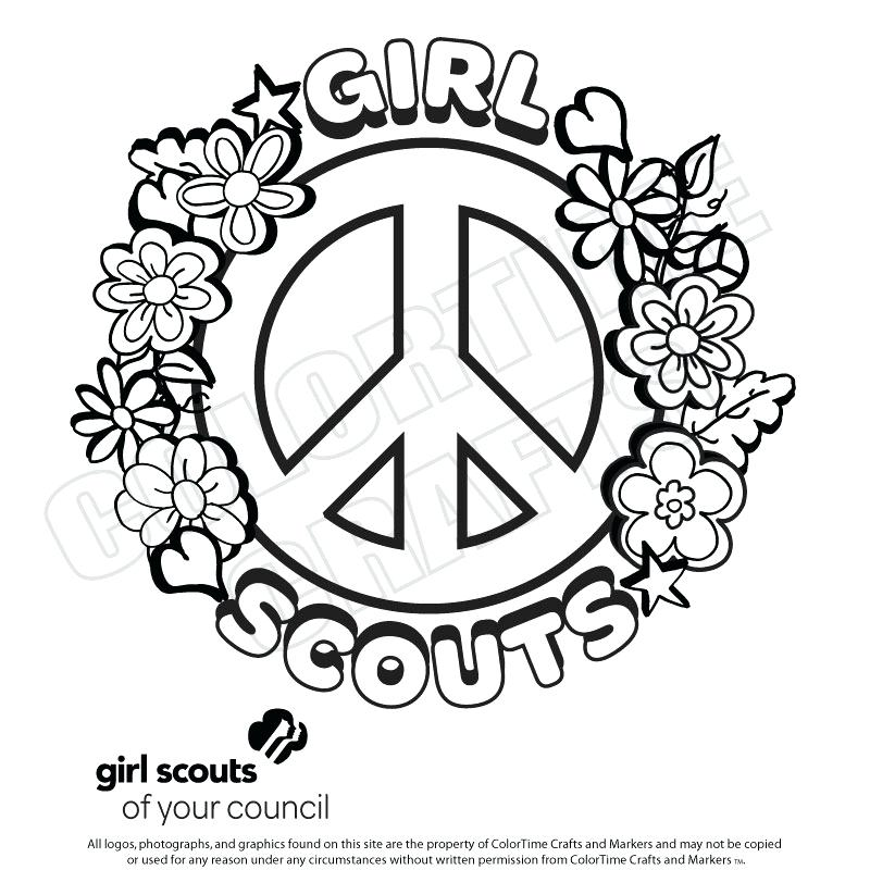 800x800 Coloring Pages For Girl Scouts Girl Scout Coloring Pages Coloring