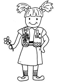236x321 Girl Scout Brownie Coloring Pages Girl Scout Cookies Coloring
