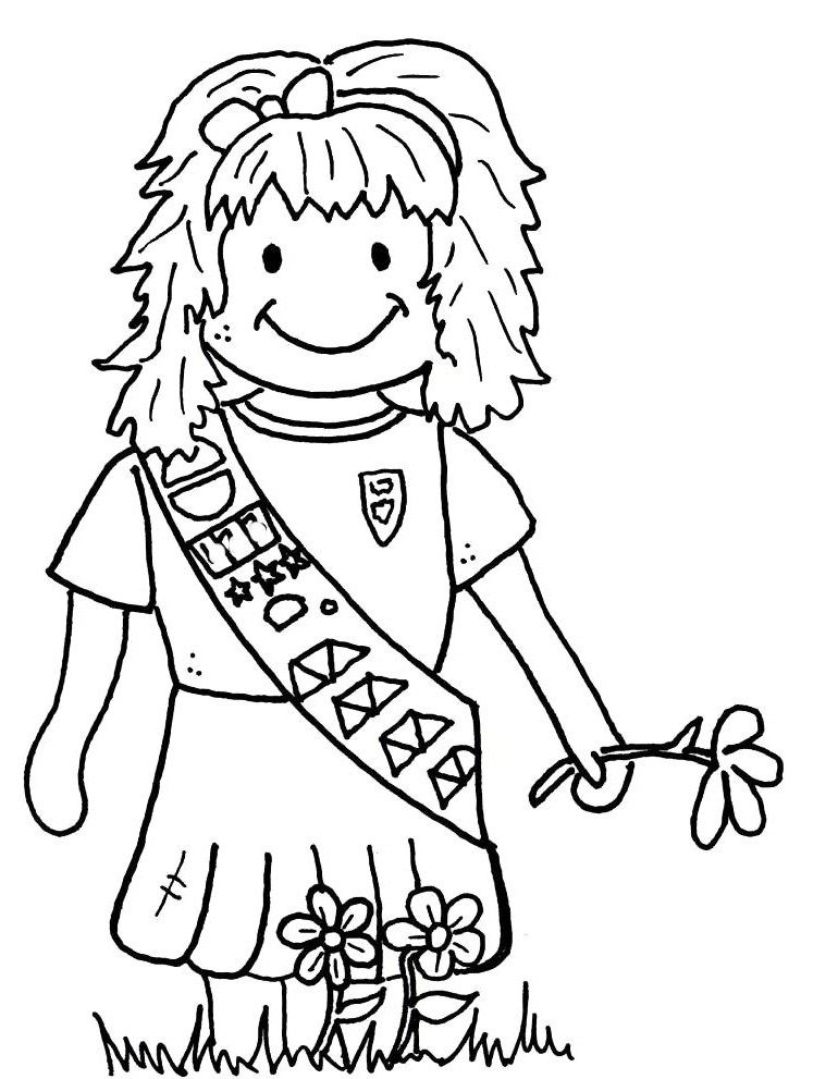 770x991 Girl Scout Brownie Coloring Picture Girl Scouts Brownies