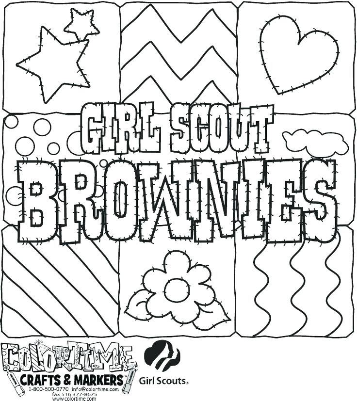 736x827 Girl Scout Coloring Pages For Brownies Best Of Boy Scout Coloring