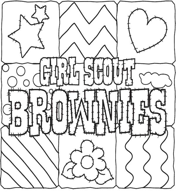 600x653 Girl Scout Cookies Coloring Pages For Kids Brownie Girl Scout