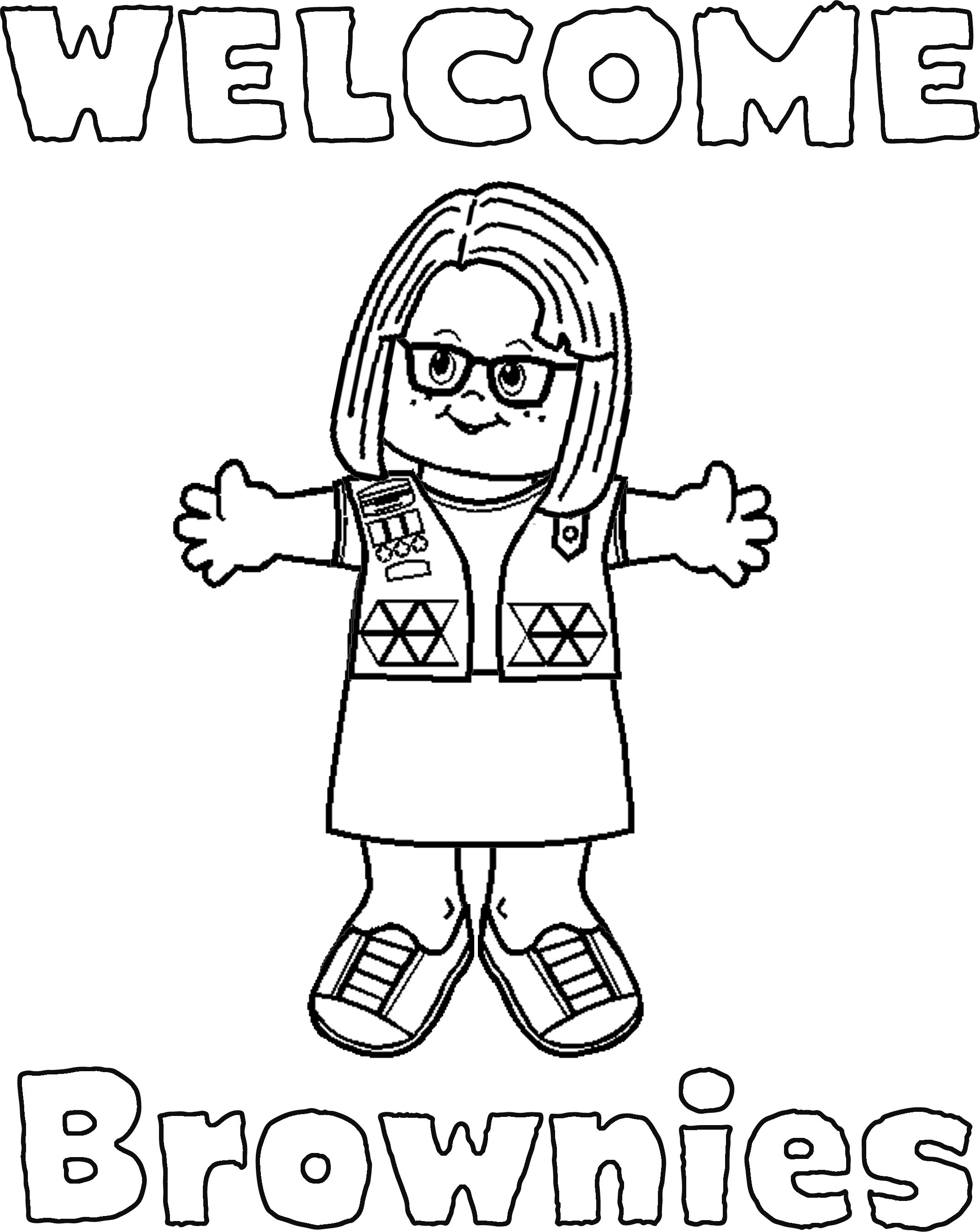 2145x2697 Printable Girl Scout Brownie Coloring Pages Free