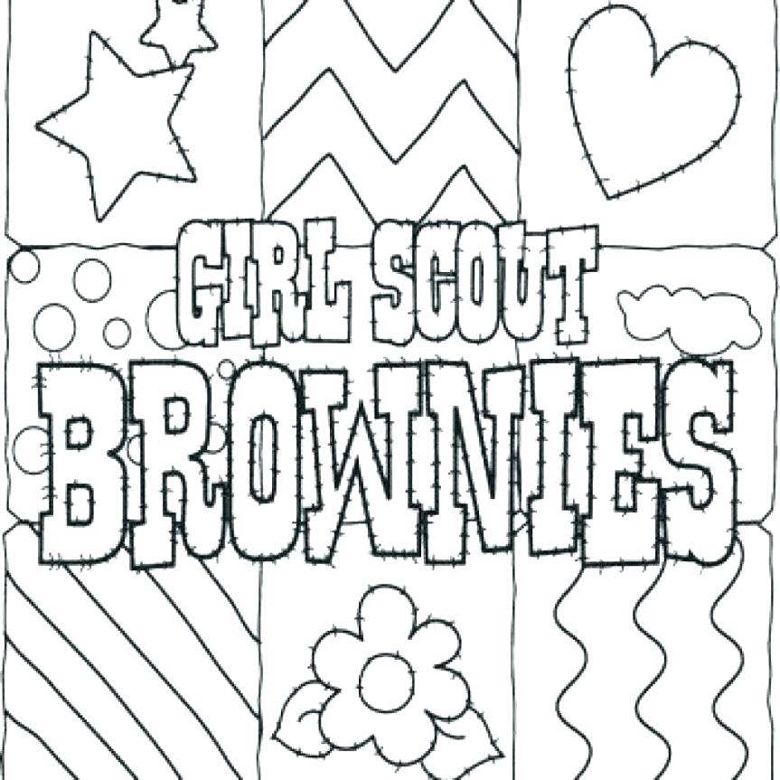 863x863 Brownie Girl Scout Coloring Pages Daisy Girl Scout Law Coloring