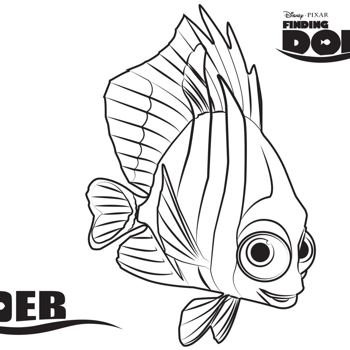 Bruce From Finding Nemo Coloring Pages At Getdrawings Com Free For