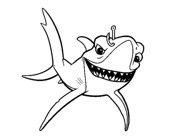 700x548 Finding Nemo Bruce Affected Fishing Finding Nemo Coloring Pages