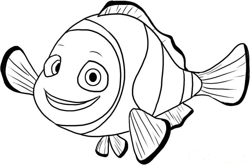 808x533 Nemo Coloring Page Free Finding Nemo Coloring Pages For Kids