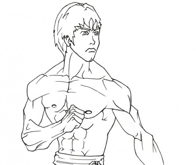 650x545 Bruce Lee Drawings Easy Sketch Coloring Page