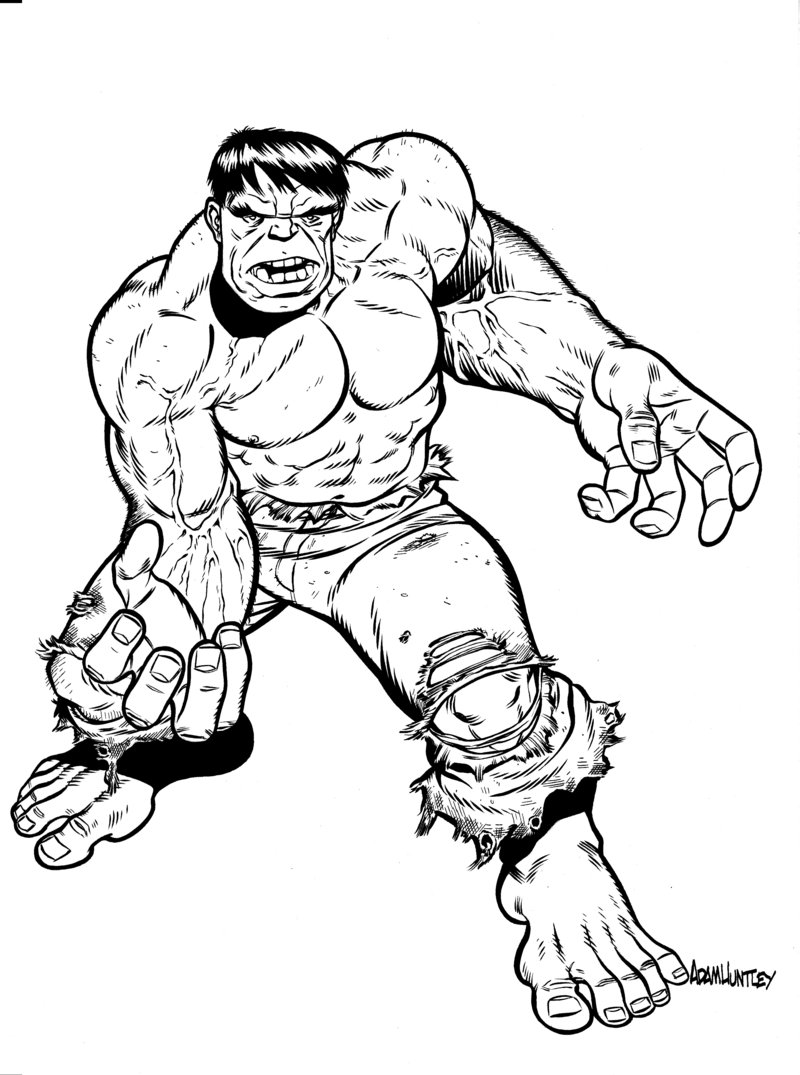 800x1075 Free Printable Hulk Coloring Pages For Kids