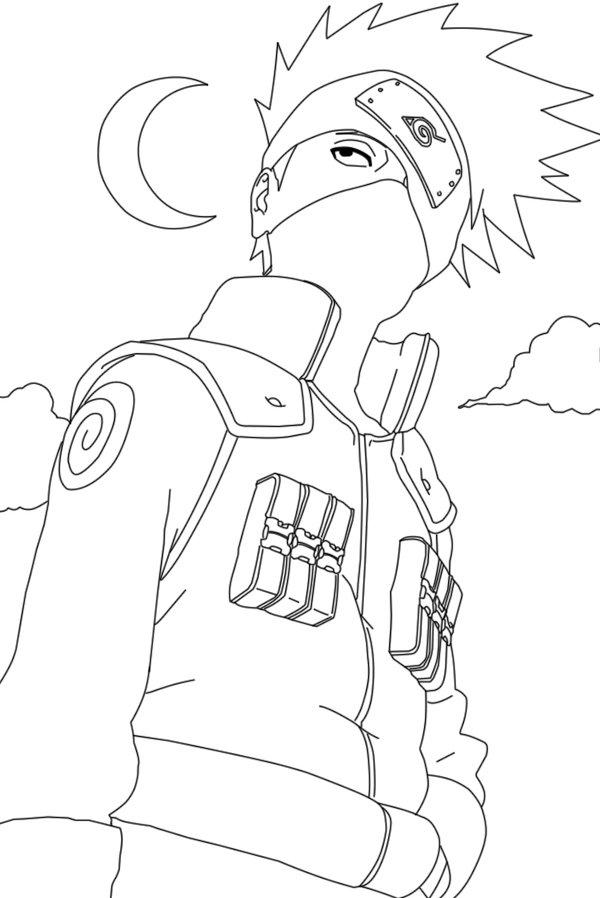 600x898 Hatake Kakashi Pose Anime Art Kakashi, Naruto