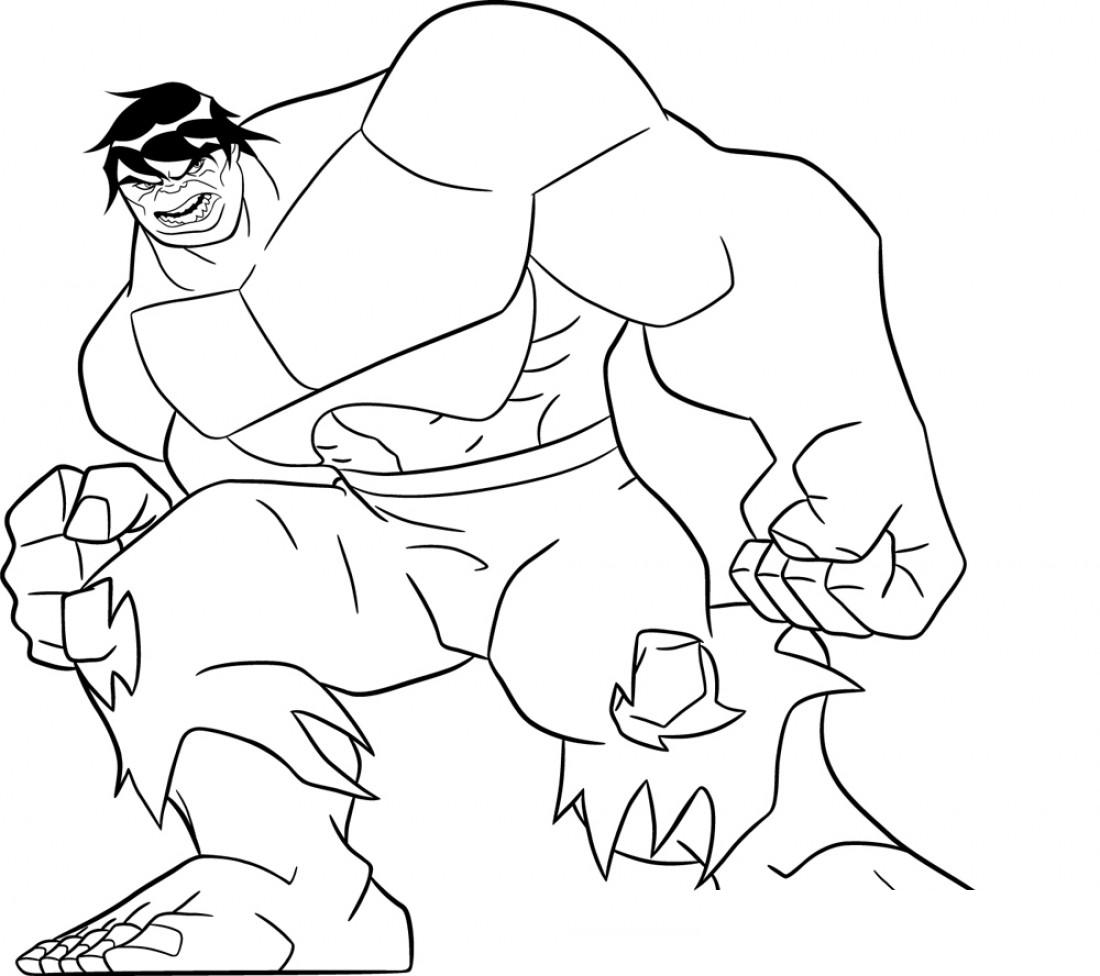 1100x976 Incredible Hulk Coloring Pages
