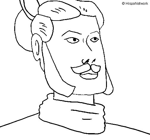 505x470 Xian Warrior Coloring Page