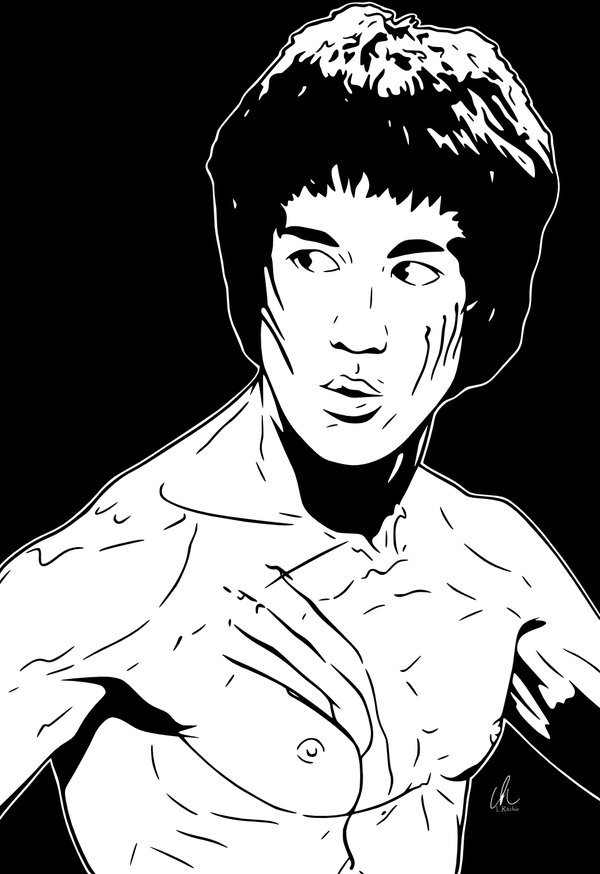 600x874 Bruce Lee Coloring Pages Color Bros