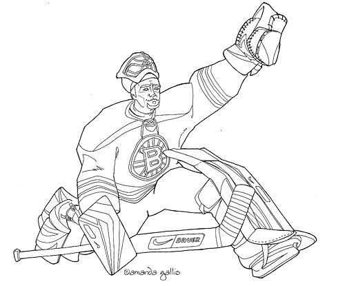 500x415 Hockey Goalie Coloring Pages Bruins Coloring Page Printable Autos